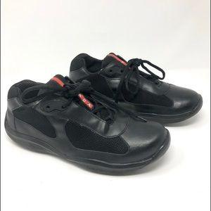 all black prada shoes